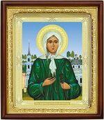 Ксения Петербургская, икона в деревянной рамке (Д-18пс-36)