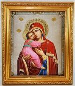 Владимирская Б.М. Икона в багетной рамке 19 Х 22