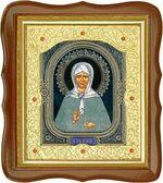 Матрона Московская, средняя аналойная икона, фигурный киот (Д-20фс-38)