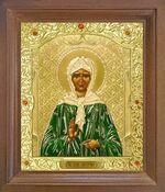 Матрона Московская. Икона в деревянной рамке с окладом (Д-25псо-39)