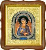 Ангел Хранитель, средняя аналойная икона, фигурный киот (Д-17фс-04)