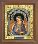 Ангел Хранитель. Икона в деревянной рамке с окладом (Д-26псо-04)