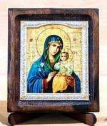 Неувядаемый цвет Б.М., Икона Византикос, полуоклад, 8Х6