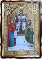 Царь Славы, в фигурном киоте, с багетом. Храмовая икона 60 Х 80 см.