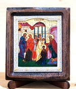 Введение во Храм Пресвятой Богородицы, Икона Византикос, полуоклад, 8Х6
