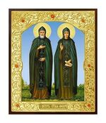 Петр и Феврония. Икона в окладе малая (Д-22-49)