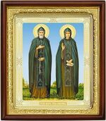 Петр и Феврония, икона в деревянной рамке (Д-18пс-49)