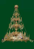Паникадило (№ 49), 3-ярусное на 36 свечей, с хоросом и лампадами