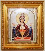 Неупиваемая чаша  Б.М. Икона в багетной рамке 14 Х 16
