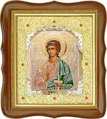 Ангел Хранитель, средняя аналойная икона, фигурный киот (Д-20фс-05)