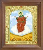 Спорительница хлебов Б.М. Икона в деревянной рамке с окладом (Д-25псо-57)