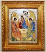 Троица, Икона в багетной рамке 14 Х 16