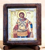 Артемий Антиохийский, Икона Византикос, полуоклад, 8Х6