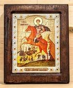 Димитрий Солунский, Икона Византикос, полуоклад, 12Х14