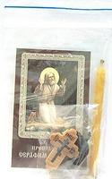 Моление на камне. Набор для домашней молитвы (Zip-Lock). Лик, молитва, свечка, ладан, крестик