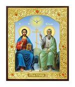 Троица. Икона в окладе малая (Д-22-61)