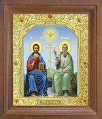 Троица. Икона в деревянной рамке с окладом (Д-25псо-61)