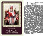 Спиридон Тримифунтский (трон), икона ламинированная