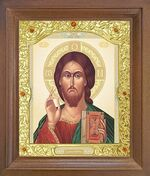 Спаситель. Икона в деревянной рамке с окладом (Д-26псо-66)