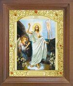 Воскресение Христово. Икона в деревянной рамке с окладом (Д-26псо-71)