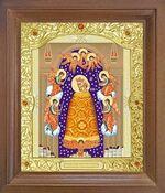 Прибавление ума Б.М. Икона в деревянной рамке с окладом (Д-26псо-75)