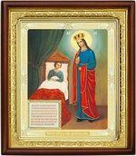 Целительница Б.М., икона в деревянной рамке (Д-18пс-77)