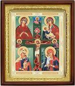 Четырехчастная Б.М., икона в деревянной рамке (Д-18пс-78)