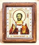 Климент, папа Римский, Икона Византикос, полуоклад, 12Х14