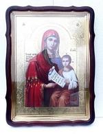 Утоли мои печали Б.М., в фигурном киоте, с багетом. Храмовая икона 60 Х 80 см.