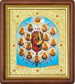 Древо Богородицы, средняя аналойная икона (Д-20пс-80)