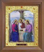 Троица. Икона в деревянной рамке с окладом (Д-26псо-84)