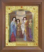 Сретение Господне. Икона в деревянной рамке с окладом (Д-26псо-91)
