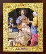 Рождество Пресвятой Богородицы. Икона в окладе средняя (Д-21-93)