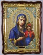 Анна, Святая Праведная, в фигурном киоте, с багетом. Храмовая икона (60 Х 80)