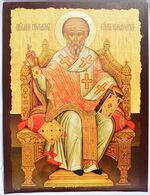 Спиридон Тримифунтский (трон). Икона храмовая JERUSALEM. 60 Х 80