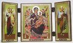 Складень МДФ (117), тройной, Всецарица Б.М., с архангелами, 13 Х 7,5 см.