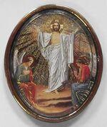 Воскресенье Христово. Икона автомобильная овал. Упак. 100 шт.