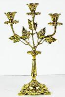 Подсвечник настольный на 3 свечи литой латунный (ЛУ)