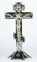 Крест настольный металлический (060), цвет серебро