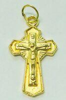 Крест нательный металл (2-85) давленый цвет золото