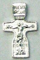 Крест нательный металл (9-36) литой цвет серебро
