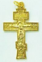 Крест нательный металл (2-73) давленый цвет золото. Упак. 100 шт.