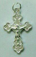 Крест нательный металл (2-56) давленый цвет серебро