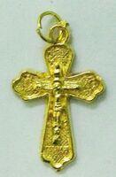 Крест нательный металл (2-86) давленый цвет золото