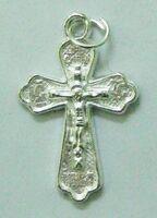 Крест нательный металл (2-86) давленый цвет серебро
