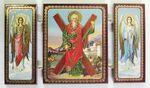 Складень МДФ (37), тройной, Андрей Первозванный с архангелами, 13 Х 7,5 см.