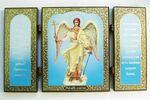 Складень МДФ (55), тройной, Ангел хранитель, с молитвой, 13 Х 7,5 см.