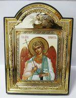 """Ангел Хранитель (пояс), икона пластиковая большая """"Голубь"""" 14 Х 19"""