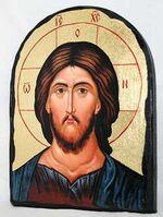 Спаситель, икона синайская, арка, 17 Х 23