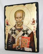 Николай Чудотворец (пояс), икона синайская, 13 Х 17